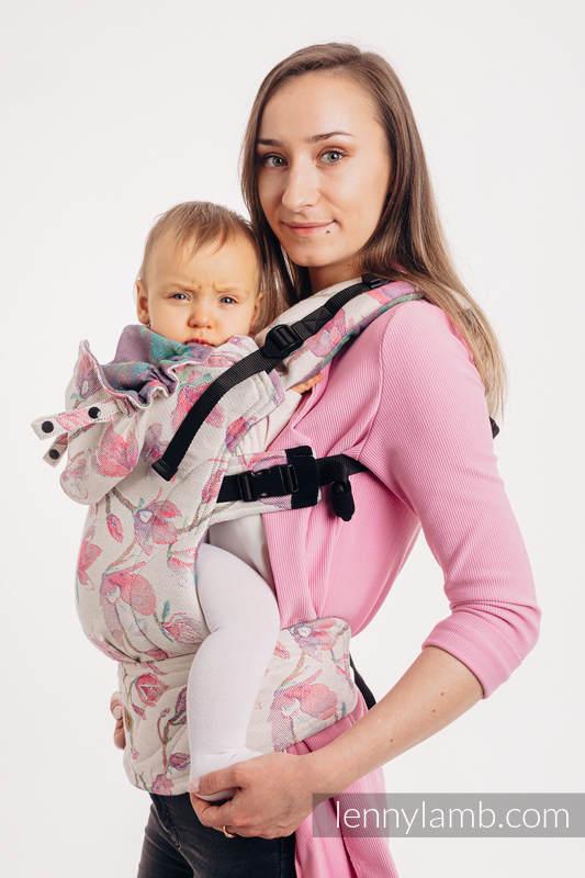LennyGo Ergonomic Carrier, Toddler Size, jacquard weave 100% cotton - MAGNOLIA #babywearing