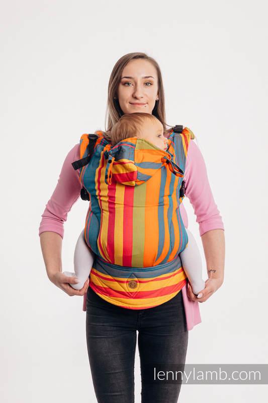 LennyGo Ergonomische Tragehilfe, Größe Baby, Kreuzköper-Bindung, 100% Baumwolle - ZUMBA ORANGE #babywearing