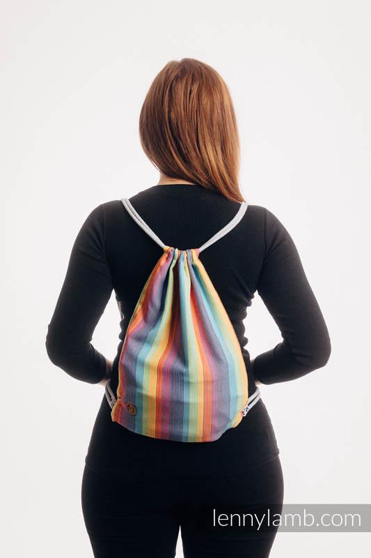 Mochila portaobjetos hecha de tejido de fular (100% algodón) - LUNA - talla estándar 32cmx43cm #babywearing