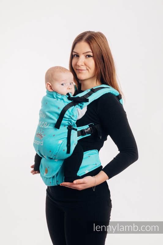 Nosidełko LennyUpGrade z tkaniny żakardowej 100% bawełna, rozmiar standard - BABY ON BOARD - PRINCE #babywearing