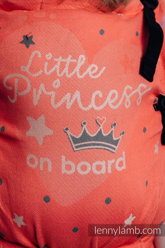 Nosidełko LennyUpGrade z tkaniny żakardowej 100% bawełna, rozmiar standard - BABY ON BOARD - PRINCESS #babywearing