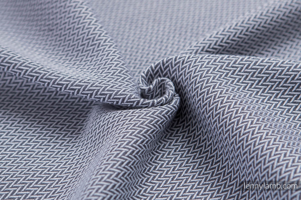 Baby sling for babies with low birthweight, Herringbone Weave (100% cotton) - LITTLE HERRINGBONE GREY - size M #babywearing