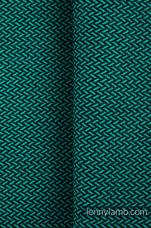 Baby sling for babies with low birthweight, Herringbone Weave, 100% cotton - EMERALD - size XS #babywearing