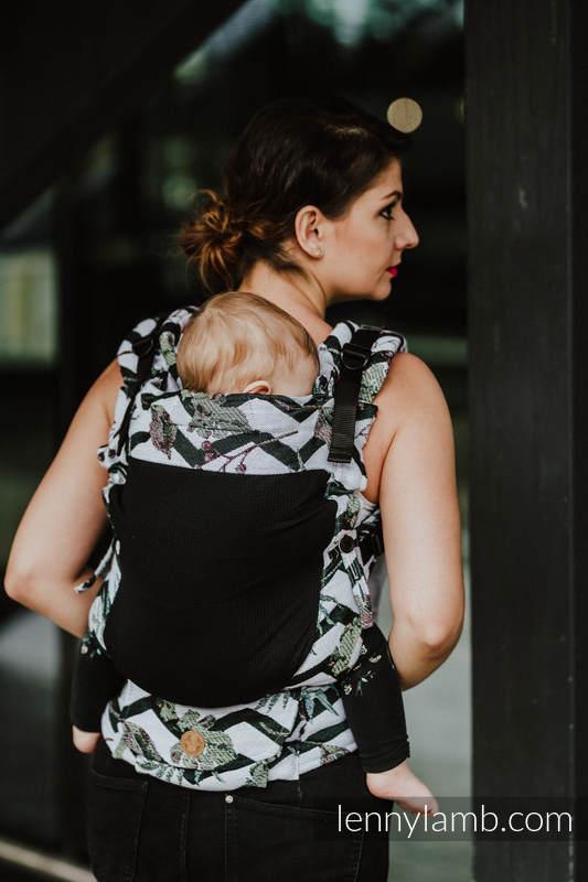 Nosidełko Siatkowe LennyUpGrade z tkaniny żakardowej (75% bawełna, 25% poliester) rozmiar standard - ABSTRACT  #babywearing