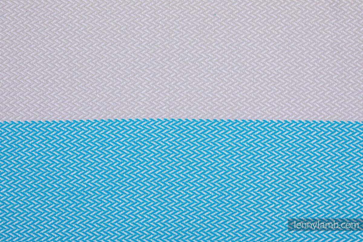 Mein Zweites Tragetuch, Fischgrätmuster (100% Baumwolle) - LITTLE HERRINGBONE LARIMAR - Größe M (grad B) #babywearing