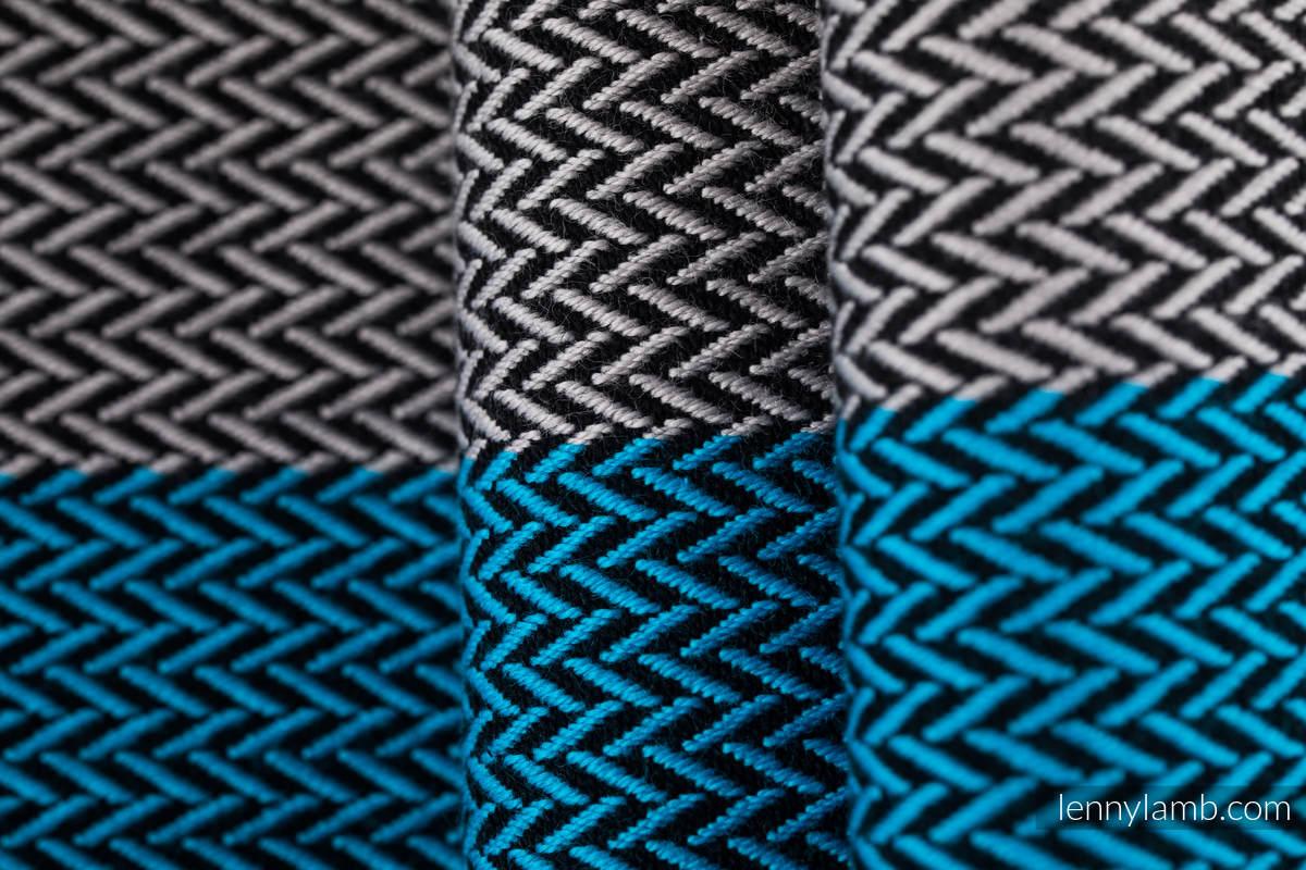 Fular Línea Básica, tejido Herringbone (100% algodón) - LITTLE HERRINGBONE SODALITE - talla S (grade B) #babywearing