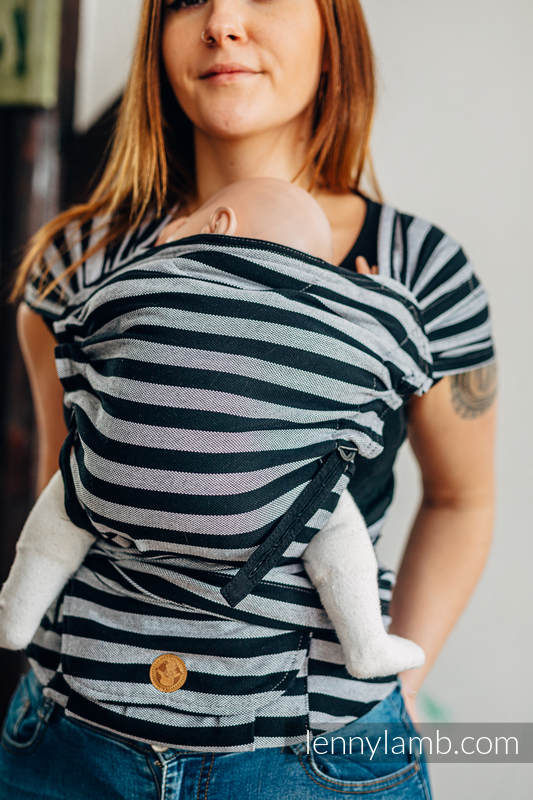 LennyHybrid Half Buckle Carrier, Standard Size, broken - twill weave 100% cotton - LIGHT AND SHADOW #babywearing