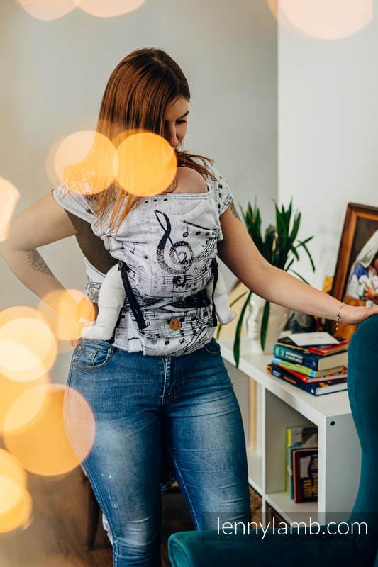 Nosidełko LennyHybrid Half Buckle, splot żakardowy, 100% bawełna , rozmiar standard - SYMFONIA KLASYCZNA #babywearing