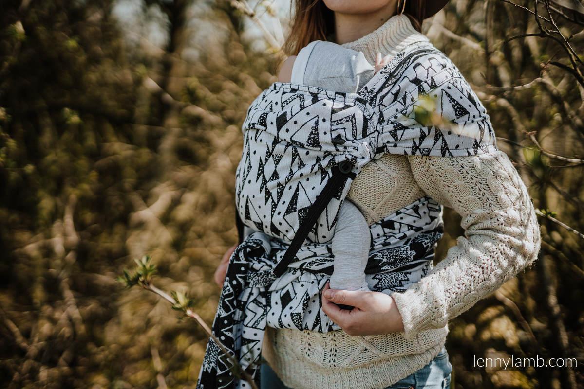 LennyHybrid Half Buckle Carrier, Standard Size, jacquard weave 100% cotton - NOVA - INKAS FILIP #babywearing