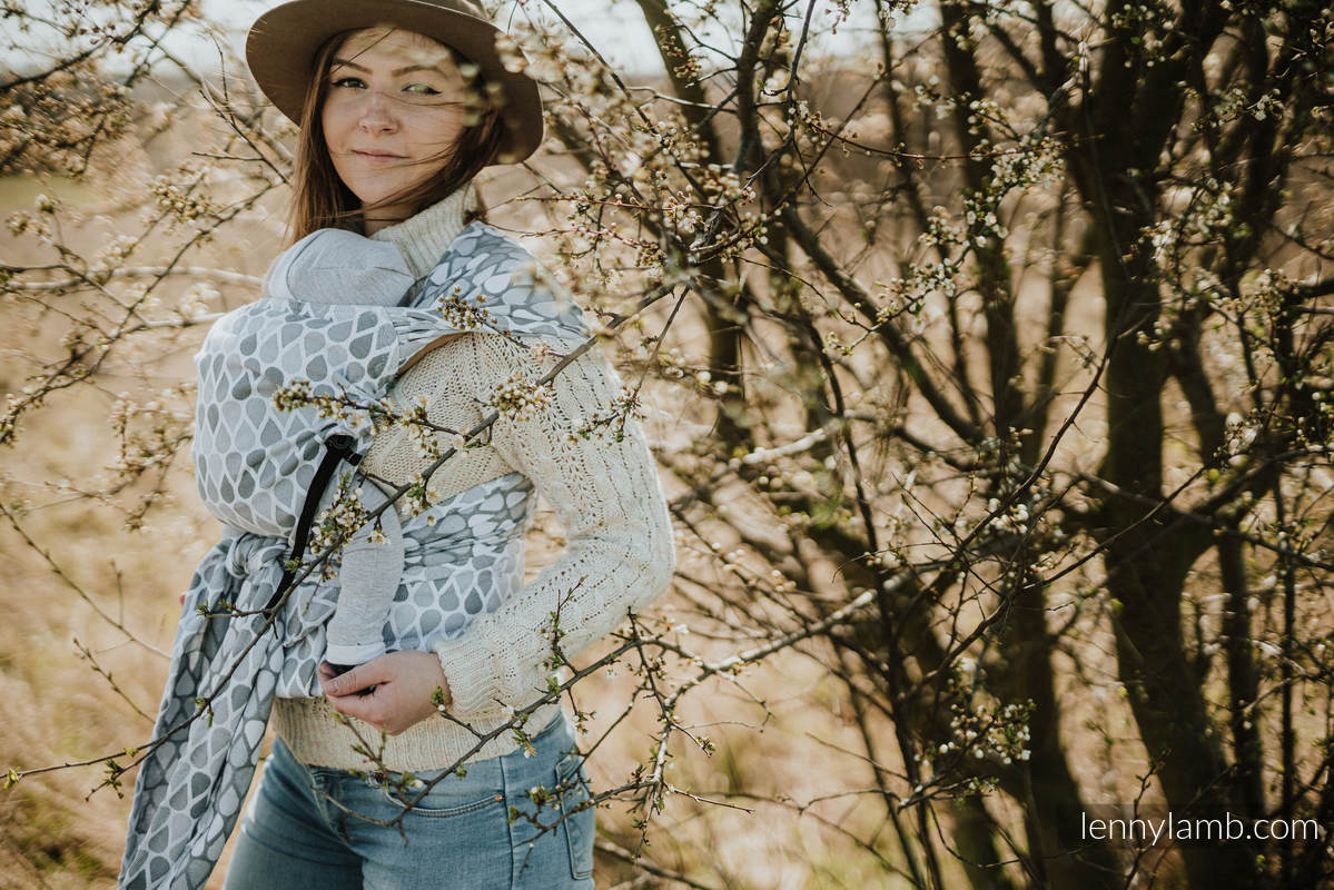 LennyHybrid Half Buckle Carrier, Standard Size, jacquard weave 100% cotton - NOVA - JOYFUL TIME ANTEK #babywearing
