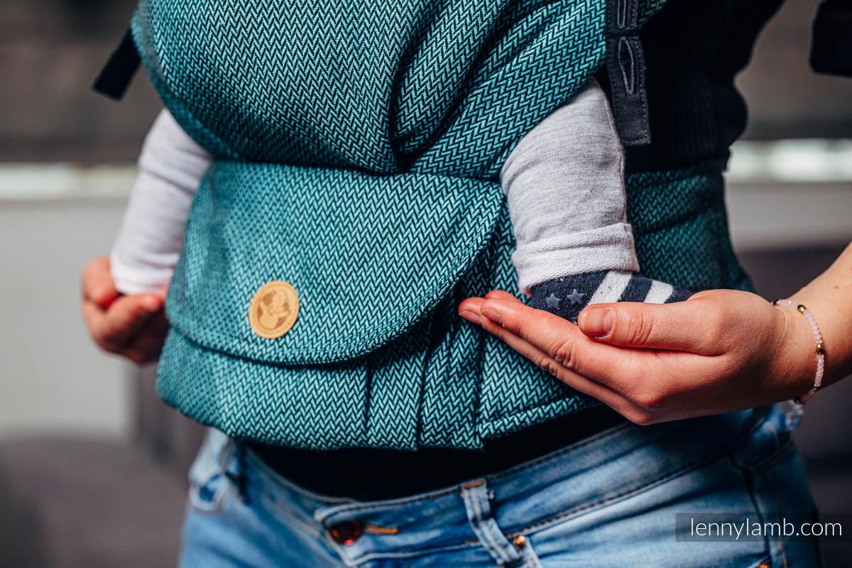 LennyUpGrade Carrier, Standard Size, herringbone weave 100% cotton - BASIC LINE AMAZONITE #babywearing