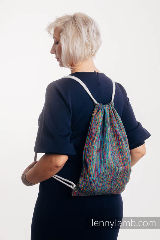 Sackpack made of wrap fabric (100% cotton) - COLORFUL WIND - standard size 32cmx43cm #babywearing