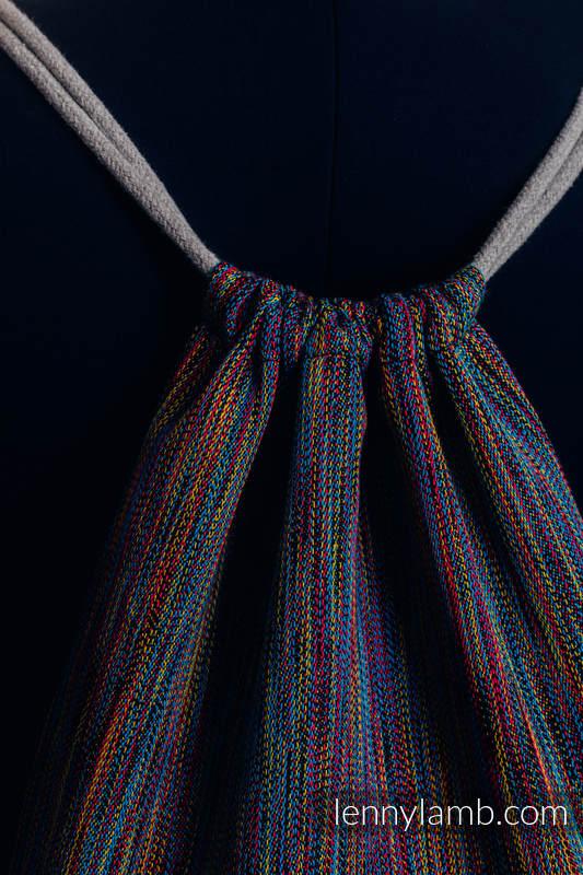 Mochila portaobjetos hecha de tejido de fular (100% algodón) - COLORFUL WIND - talla estándar 32cmx43cm #babywearing