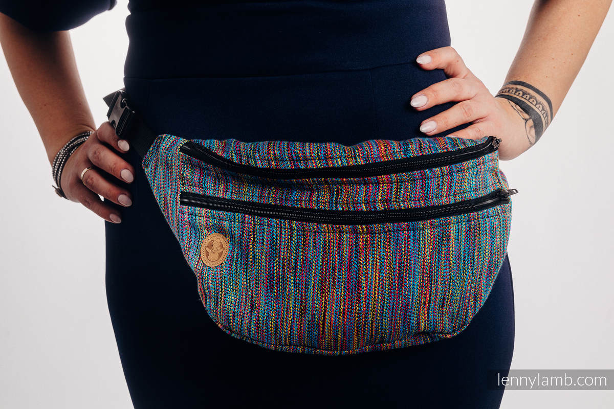 Waist Bag made of woven fabric, size large (100% cotton) - COLORFUL WIND  #babywearing