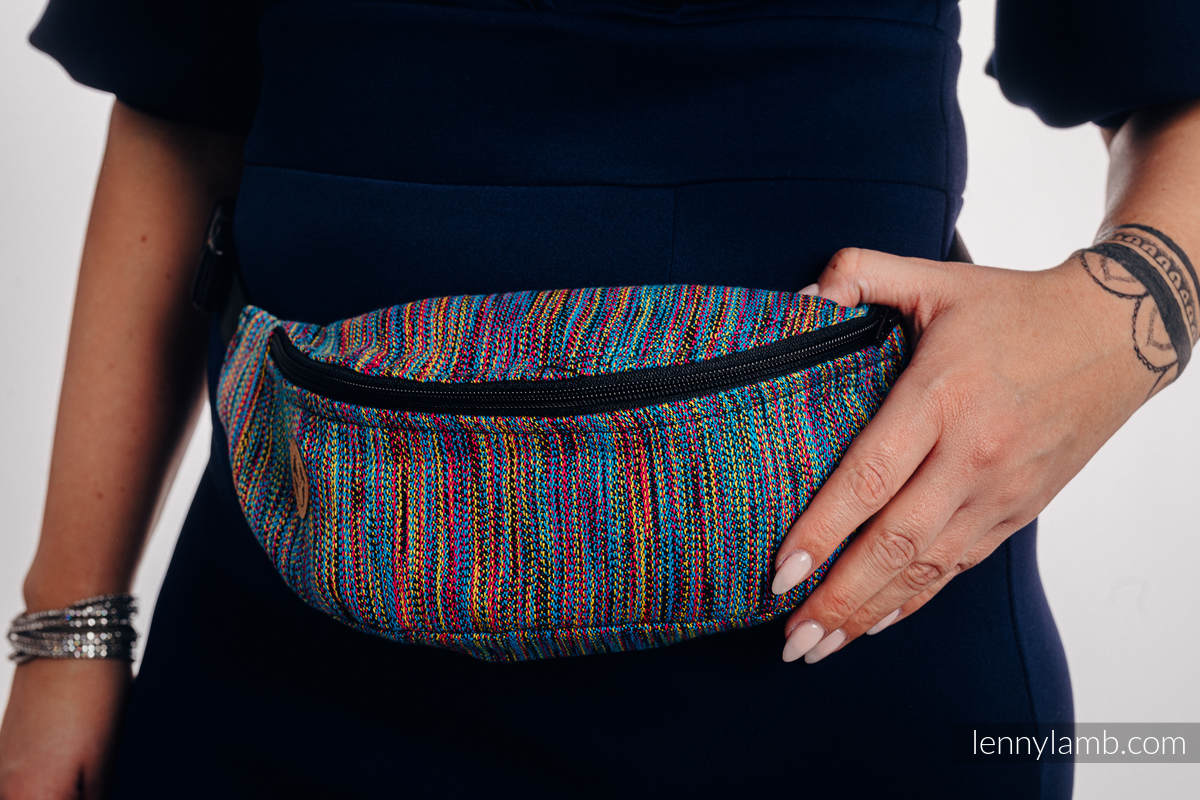 Waist Bag made of woven fabric, (100% cotton) - COLORFUL WIND  #babywearing