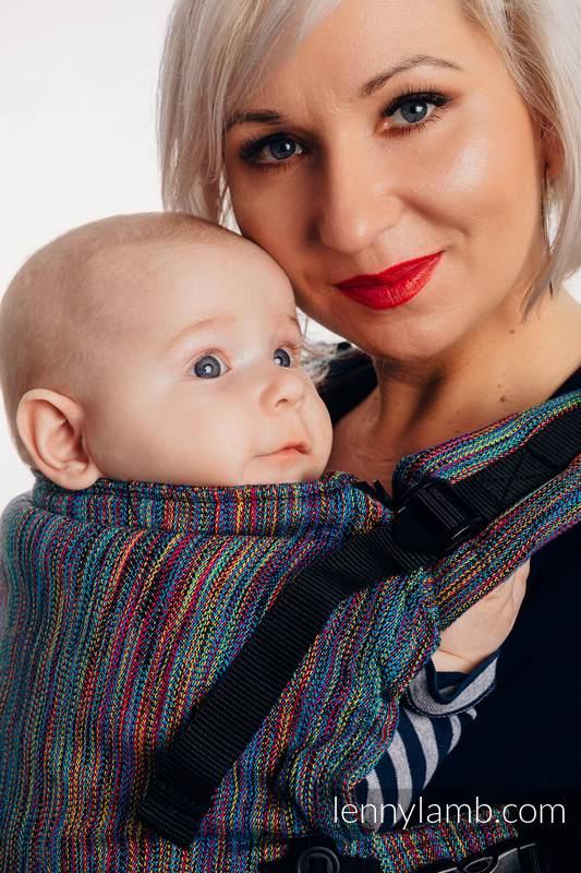 Nosidełko LennyUpGrade  z tkaniny żakardowej 100% bawełna, rozmiar standard - KOLOROWY WIATR  #babywearing