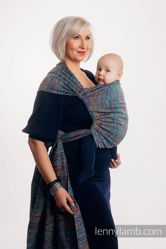 Tragetuch, Jacquardwebung (100% Baumwolle) - COLORFUL WIND - Größe S #babywearing