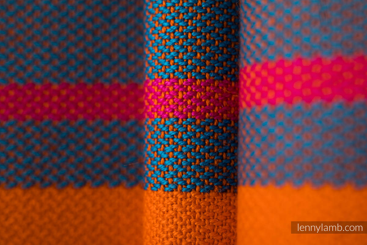 Ringsling, Broken twill Weave (100% cotton) - ZUMBA ORANGE - standard 1.8m #babywearing