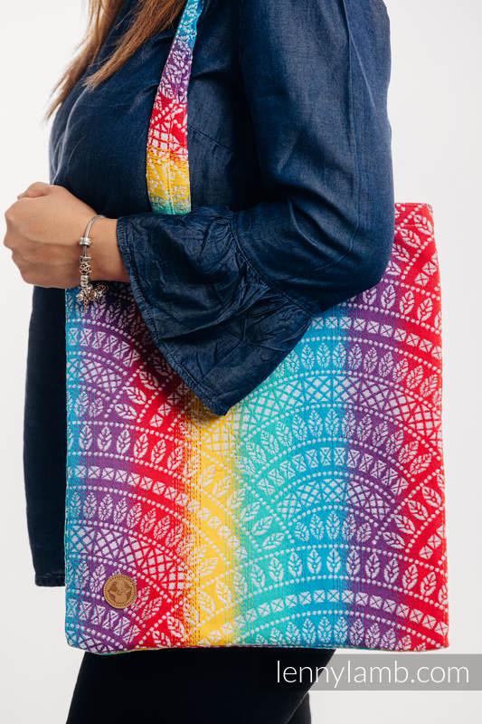 Shopping bag made of wrap fabric (100% cotton) - PEACOCK'S TAIL - FUNFAIR  #babywearing
