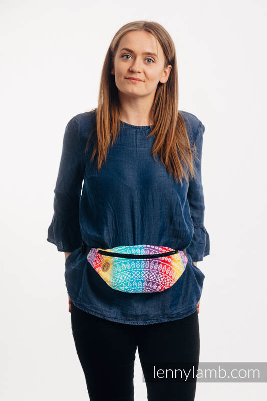 Waist Bag made of woven fabric, (100% cotton) - PEACOCK'S TAIL - FUNFAIR  #babywearing