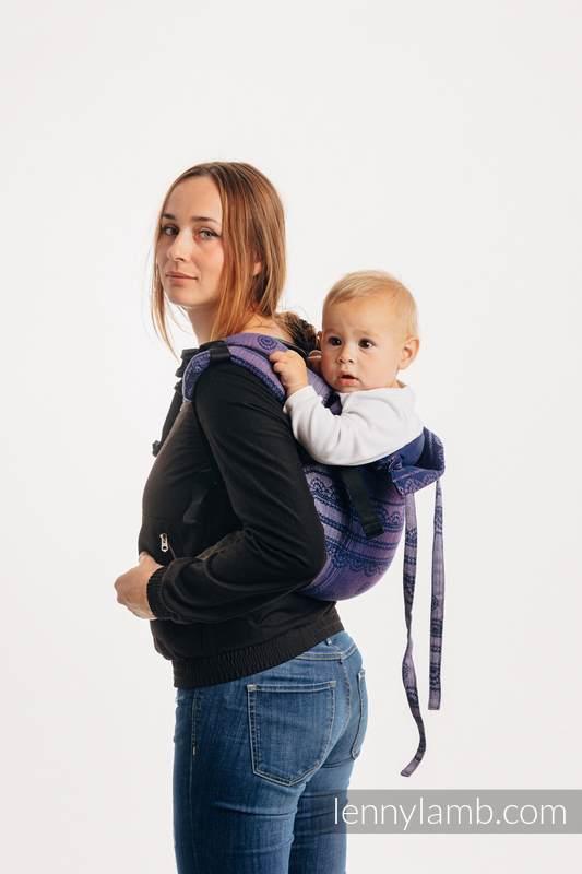 Lenny Buckle Onbuhimo Tragehilfe, Größe Standard, Jacquardwebung (65% Baumwolle, 25% Leinen, 10% Tussahseide) - SPACE LACE #babywearing