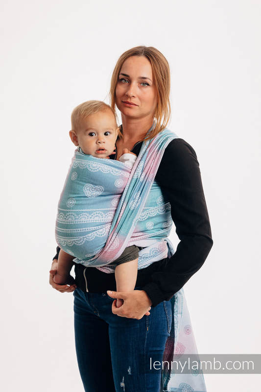 Baby Wrap, Jacquard Weave (91% cotton, 9% tencel) - UNICORN LACE - size XS #babywearing