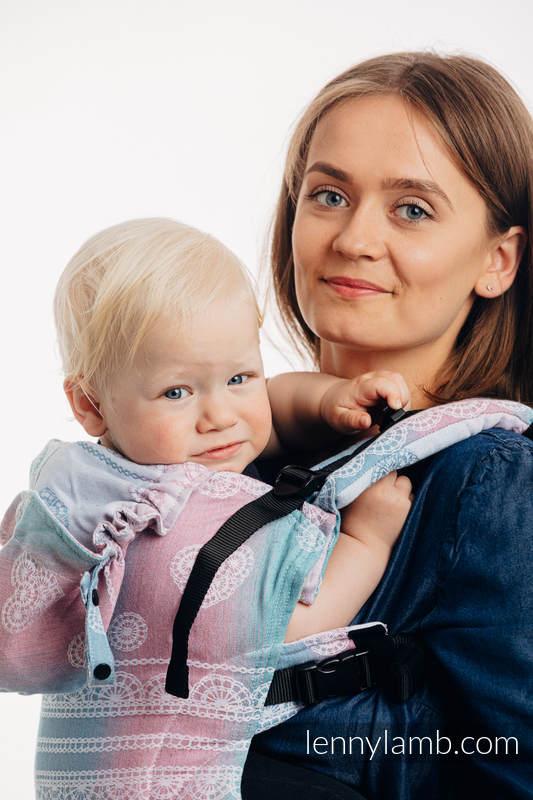 LennyGo Ergonomic Carrier, Baby Size, jacquard weave (91% cotton, 9% tencel) - UNICORN LACE #babywearing