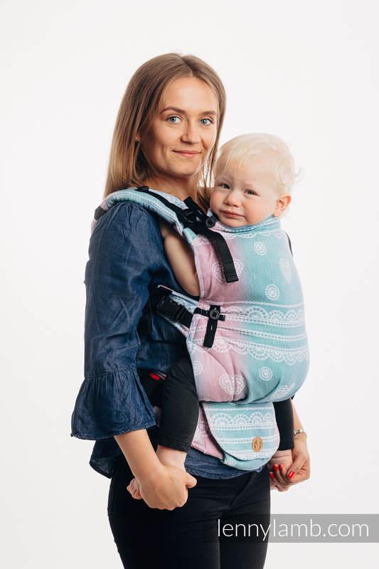 LennyUpGrade Carrier, Standard Size, jacquard weave (91% cotton, 9% tencel) - UNICORN LACE #babywearing