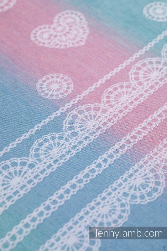 Ringsling, Jacquard Weave, with gathered shoulder (91% cotton, 9% tencel) - UNICORN LACE - standard 1.8m #babywearing