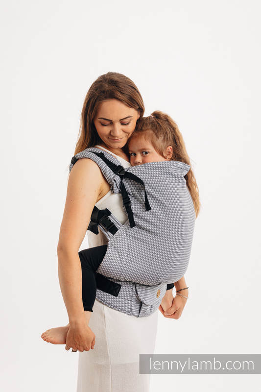LennyPreschool Carrier, Preschool Size, tessera weave 100% cotton - BASIC LINE SELENITE #babywearing