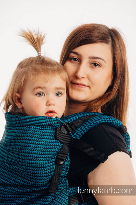 LennyPreschool Carrier, Preschool Size, tessera weave 100% cotton - BASIC LINE TANZANITE #babywearing