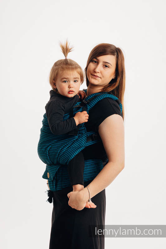 LennyPreschool Tragehilfe, Größe Preschool, Tesserawebung, 100% Baumwolle - BASIC LINE TANZANITE #babywearing