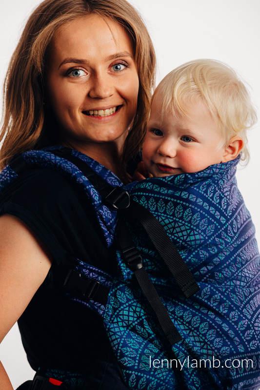Nosidełko LennyPreschool  z tkaniny żakardowej 100% bawełna, rozmiar preschool - PAWI OGON - PROWANSJA #babywearing