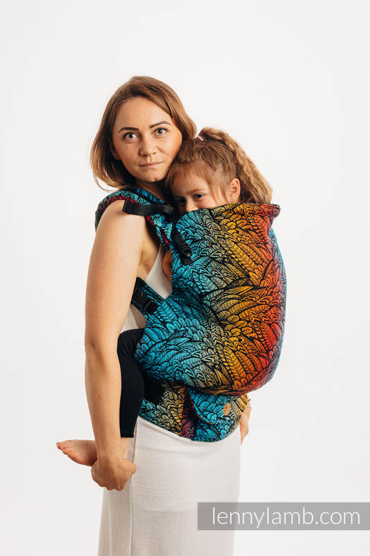 LennyPreschool Carrier, Preschool Size, jacquard weave 100% cotton - WILD SOUL - DAEDALUS #babywearing