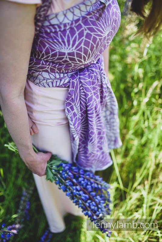 Écharpe, jacquard (100% lin) - LOTUS - PURPLE - taille S #babywearing