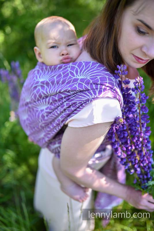 Écharpe, jacquard (100% lin) - LOTUS - PURPLE - taille L #babywearing