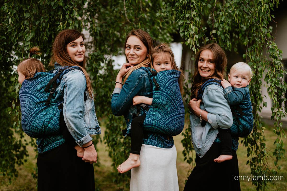 LennyPreschool Carrier, Preschool Size, jacquard weave 100% cotton - PEACOCK'S TAIL - PROVANCE  #babywearing