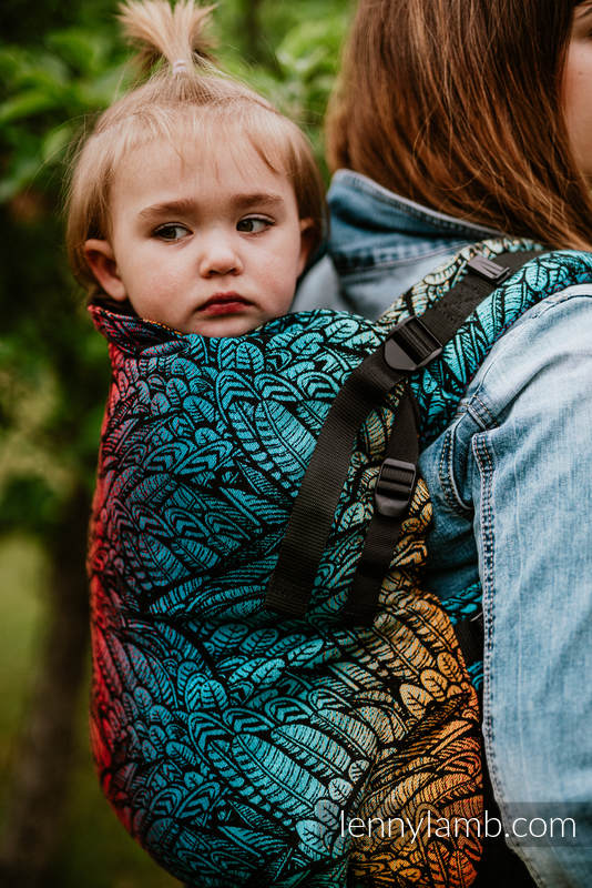 Nosidełko LennyPreschool  z tkaniny żakardowej 100% bawełna, rozmiar preschool - WOLNY DUCH DEDAL #babywearing