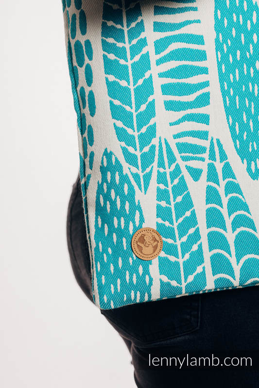 Shopping bag made of wrap fabric (100% cotton) - SKETCHES OF NATURE - SEA GREEN #babywearing