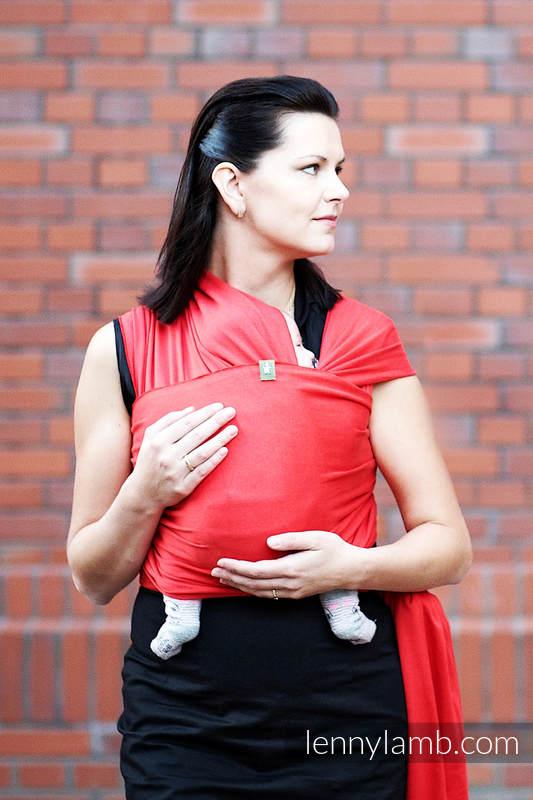 Stretchy/Elastic Baby Sling - Ruby - standard size 5.0 m #babywearing