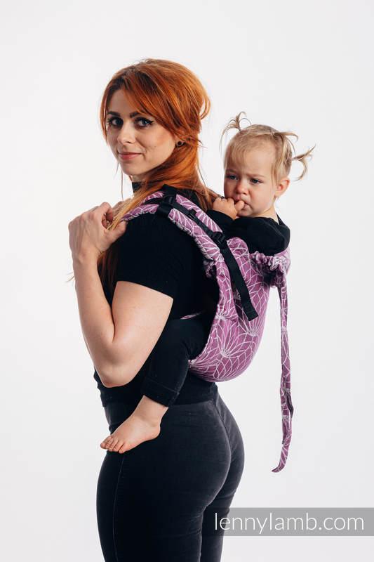 Onbuhimo de Lenny, taille standard, jacquard (100% lin) - LOTUS - PURPLE  #babywearing
