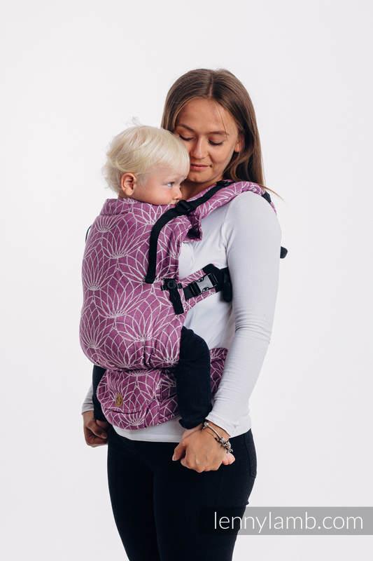 Porte-bébé LennyUpGrade, taille standard, jacquard, 100% Lin, LOTUS - PURPLE  #babywearing