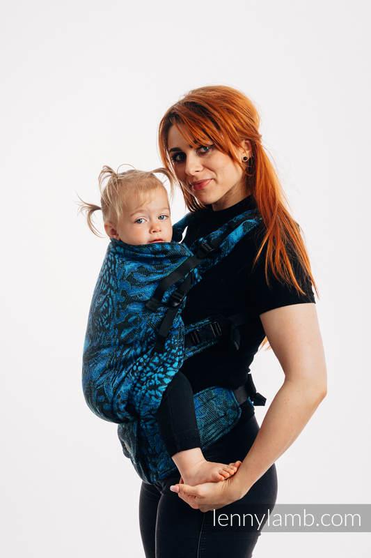 Nosidełko LennyPreschool  z tkaniny żakardowej 100% bawełna, rozmiar preschool - JAGUAR #babywearing