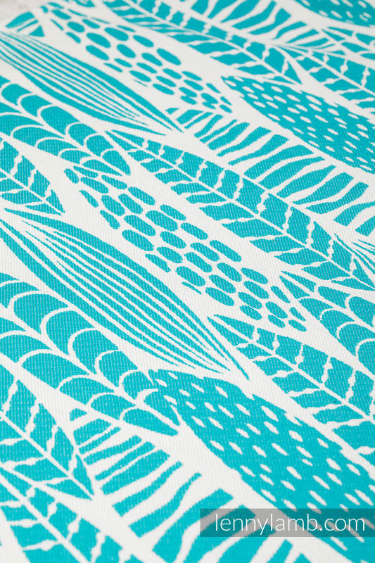 Écharpe, jacquard (100% coton) - SKETCHES OF NATURE - SEA GREEN - taille S #babywearing