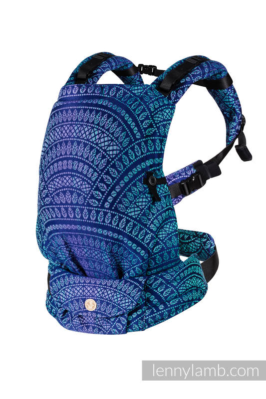 Porte-bébé LennyUpGrade, taille standard, jacquard, 100% coton - PEACOCK'S TAIL - PROVANCE #babywearing