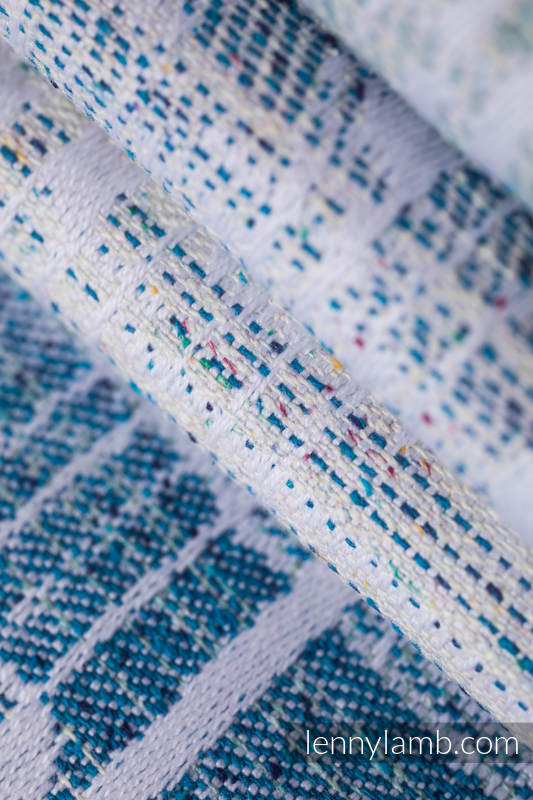 Baby Wrap, Jacquard Weave (54% cotton, 46% silk) - SYMPHONY - OVER CLOUDS - size L #babywearing