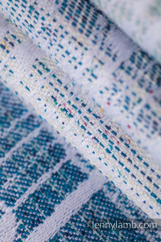Żakardowa chusta do noszenia dzieci, (54% bawełna, 46% jedwab) - SYMFONIA - PONAD CHMURAMI - rozmiar XS #babywearing