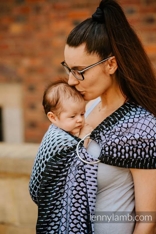 Ringsling, Jacquard Weave (100% cotton) - NOVA - DRAGON SCALE JACEK - long 2.1m #babywearing