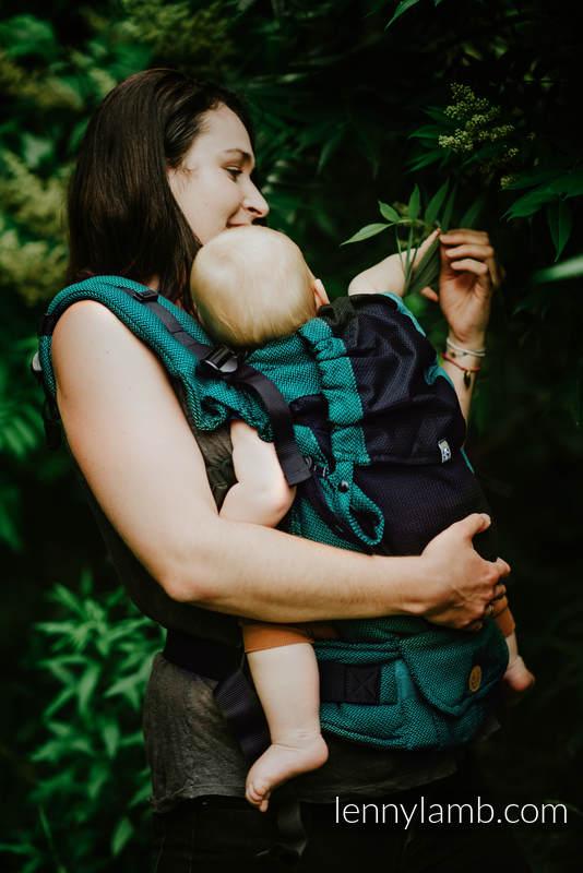 Nosidełko Siatkowe LennyUpGrade z tkaniny żakardowej (75% bawełna, 25% poliester) rozmiar standard - NOVA - MAŁA JODEŁKA - OLIWIA #babywearing