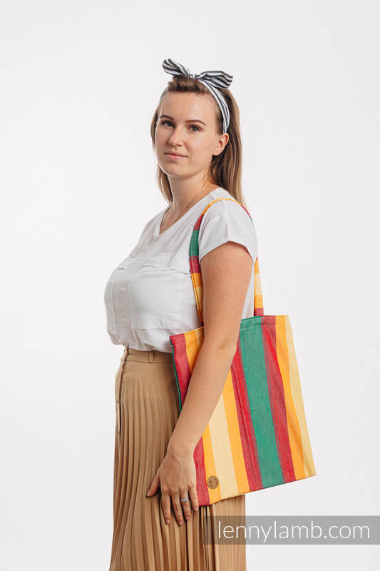 Bolsa de la compra hecho de tejido de fular (60% algodón, 40% viscosa de bambú) - SPRING #babywearing